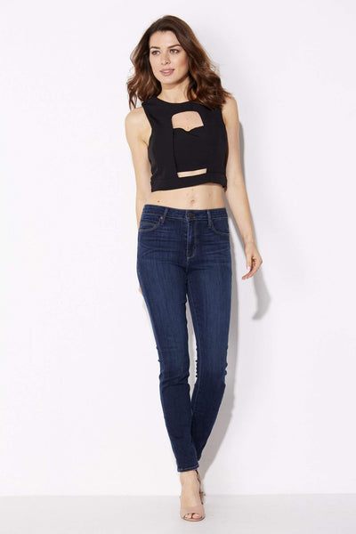 Black Cut Out Crop Top