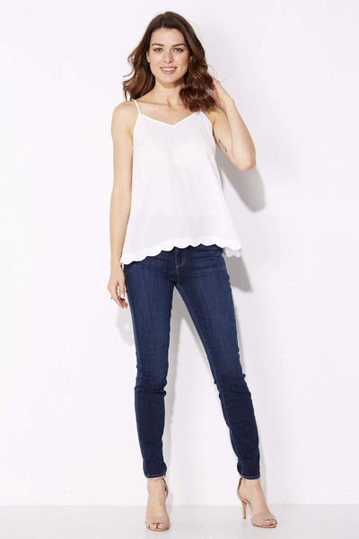 Very J - Scalloped Split Back Tank - front