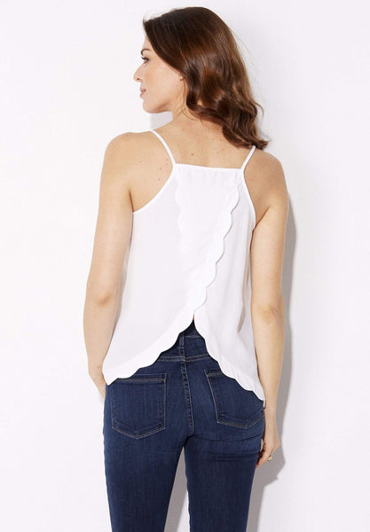 Very J - Scalloped Split Back Tank - rear