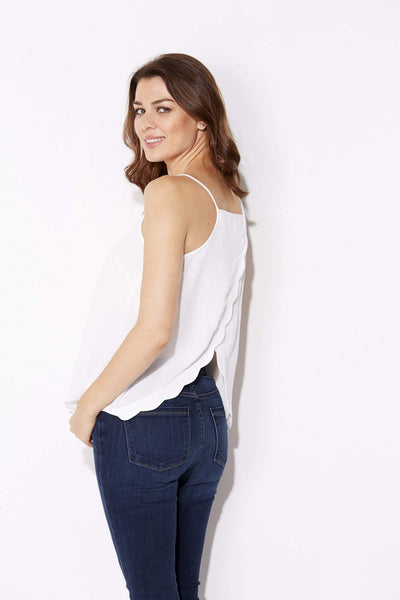 Very J - Scalloped Split Back Tank - side