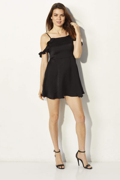 Lucca Couture Black Dress - Front