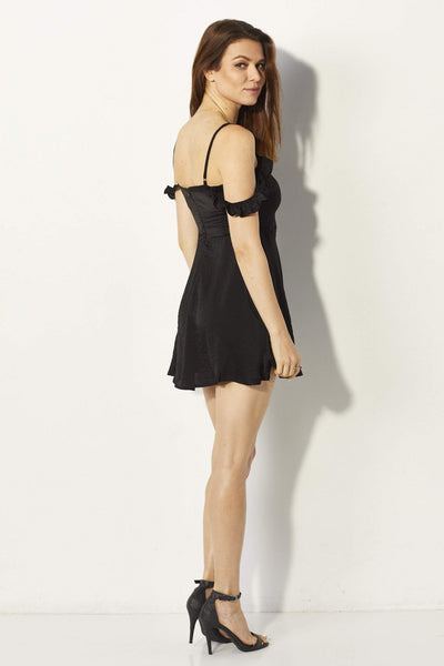 Lucca Couture Black Dress - Side