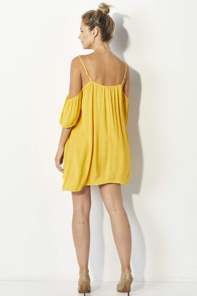 Bishop + Young Yellow Dress - Back