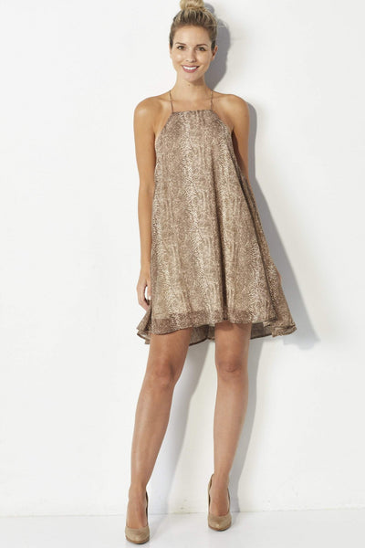 By Together Tan snakeskin dress - Front
