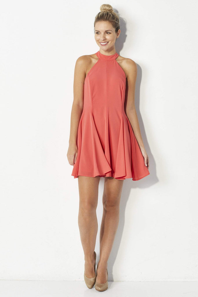 Mabel Coral swing dress - Front