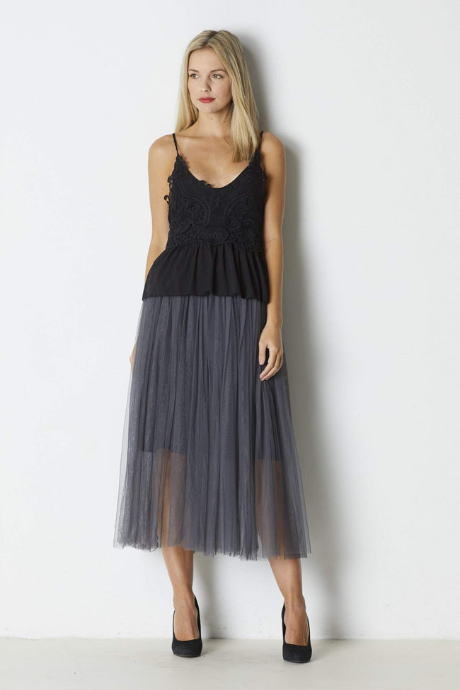 Ruby Stitch Tulle Skirt - Front