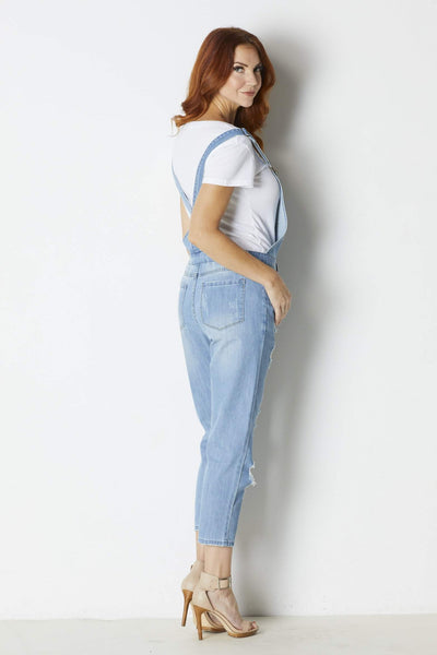 Sadie & Sage Distressed Overalls - Back