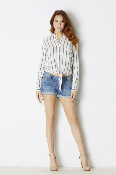Fress Forum Knotted Striped Shirt - Front