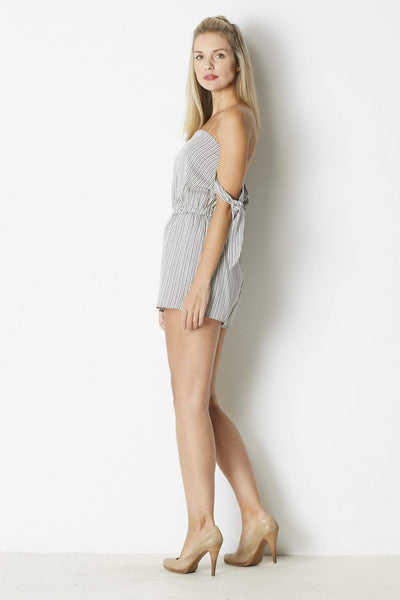 Dress Forum Knotted Sleeve Romper - Side
