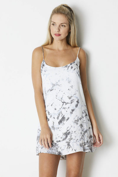 Olivaceous Tie Dye Cami Dress - Front