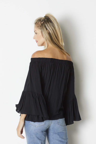 Elan Black bell sleeve top - Back