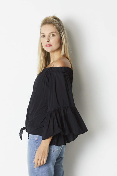 Elan Black bell sleeve top - Side