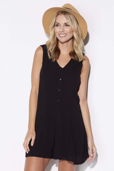 Black Button Down Romper