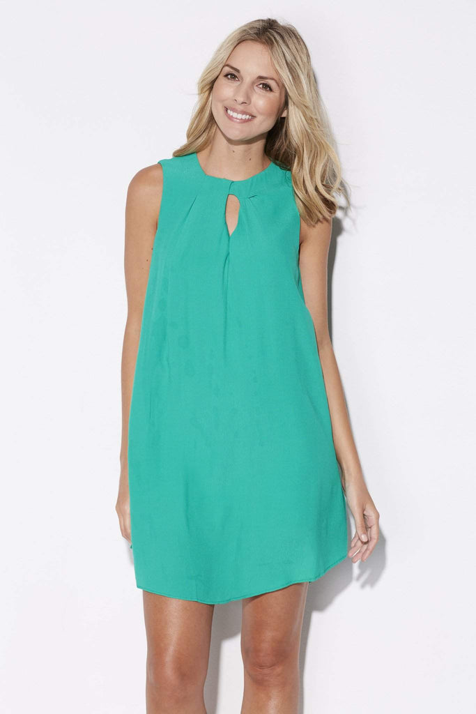 Green Sleevelesss Shift Dress