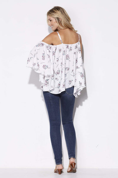 Bishop + Young - Cold Shoulder Floral Top - rear