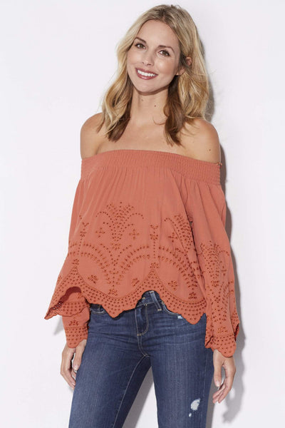 Spice Off the Shoulder Top
