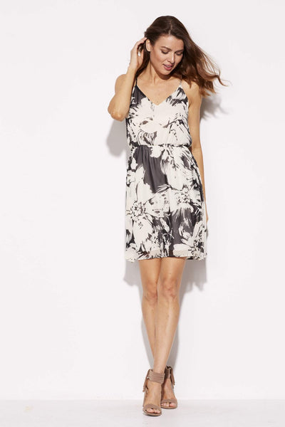 Everly - Floral Skater Dress - front