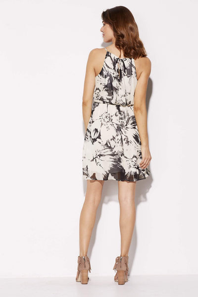 Everly - Floral Skater Dress - rear