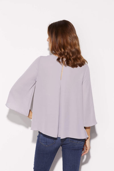 Highline - Lavender 3/4 Wide Sleeve Top - rear