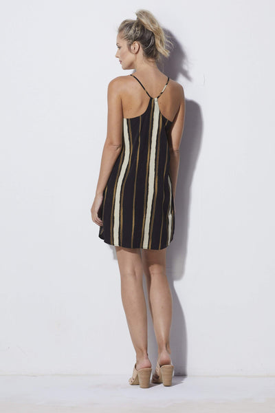 Bishop + Young Striped Shift Dress - Back