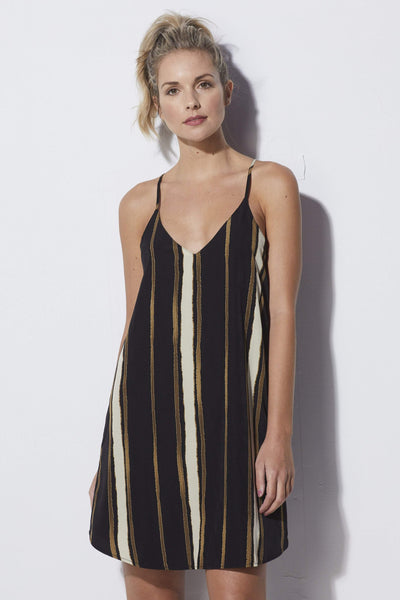 Bishop + Young Striped Shift Dress - Front