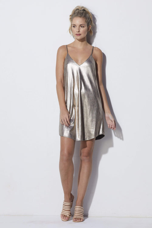 Bishop + Young Metallic Dress - Front