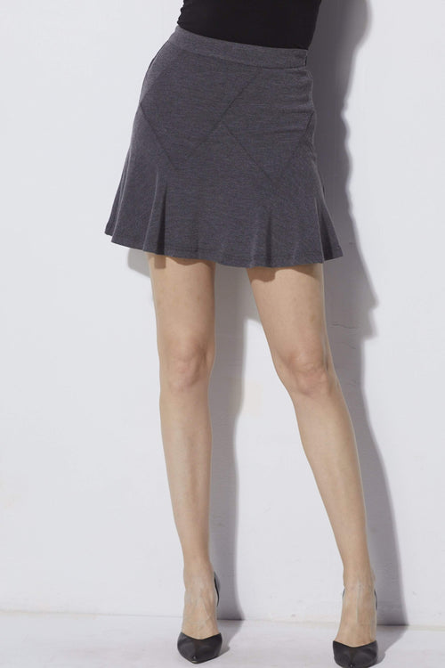 J.O.A. Charcoal Knit Skirt - Front