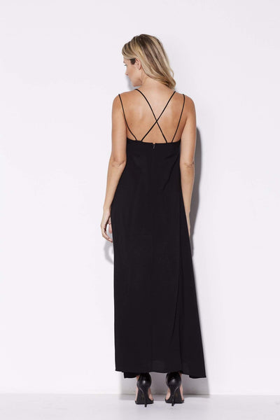 Black Strappy Maxi Dress