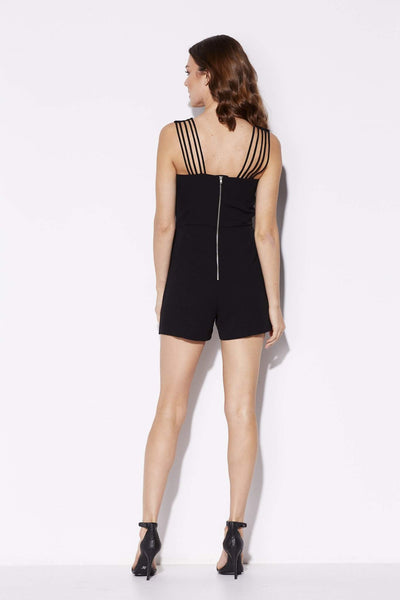 Black Multi Strap Romper