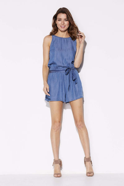 Low Back Chambray Romper