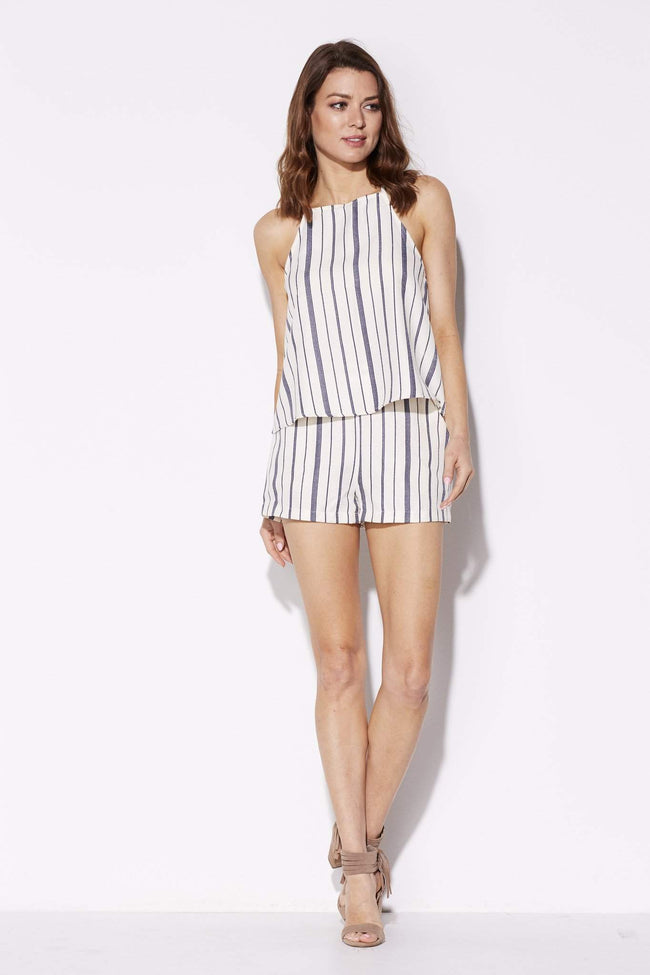 Everly - Blue Pinstripe Shorts