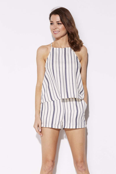 Blue Pinstripe Top