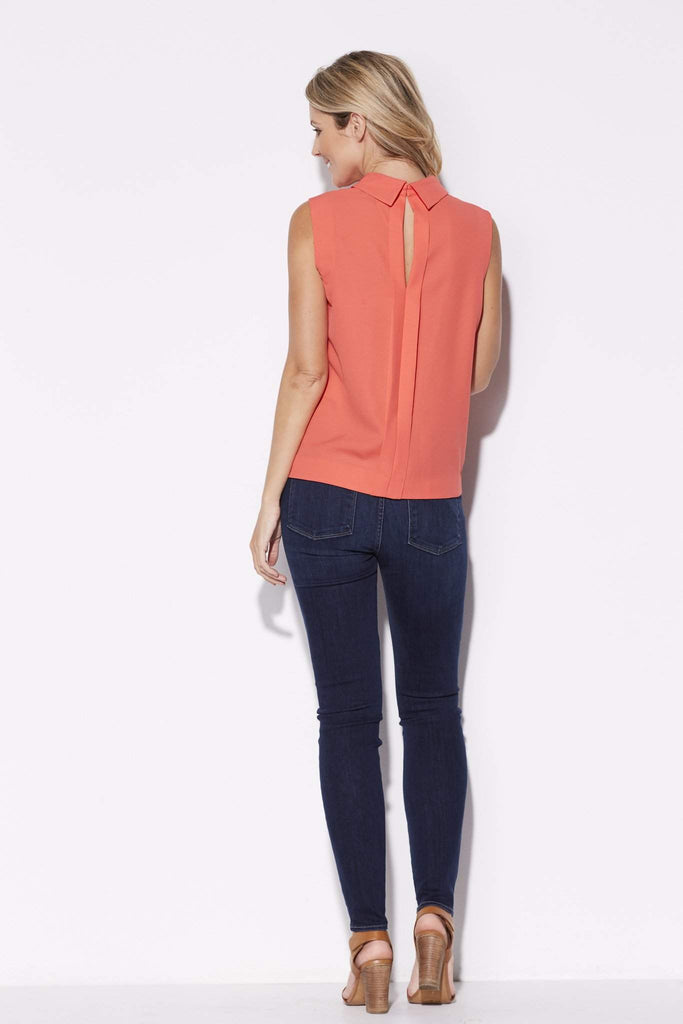 Highline - High Collar Coral Top - rear