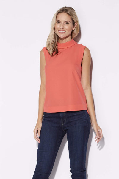 Highline - High Collar Coral Top