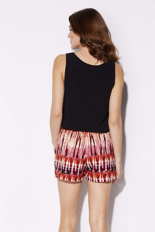 Tyche - Sunset Tie Dye Shorts - rear