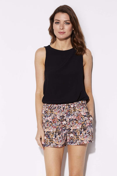 Tyche - Floral Print Pocket Shorts - front