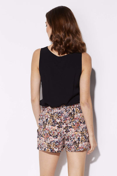 Tyche - Floral Print Pocket Shorts - rear