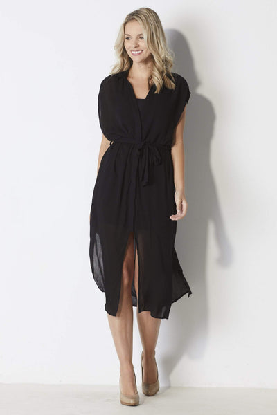 Bishop + Young Black T-shirt dress - Front
