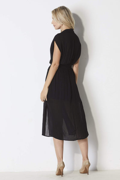 Bishop + Young Black T-shirt dress - Back