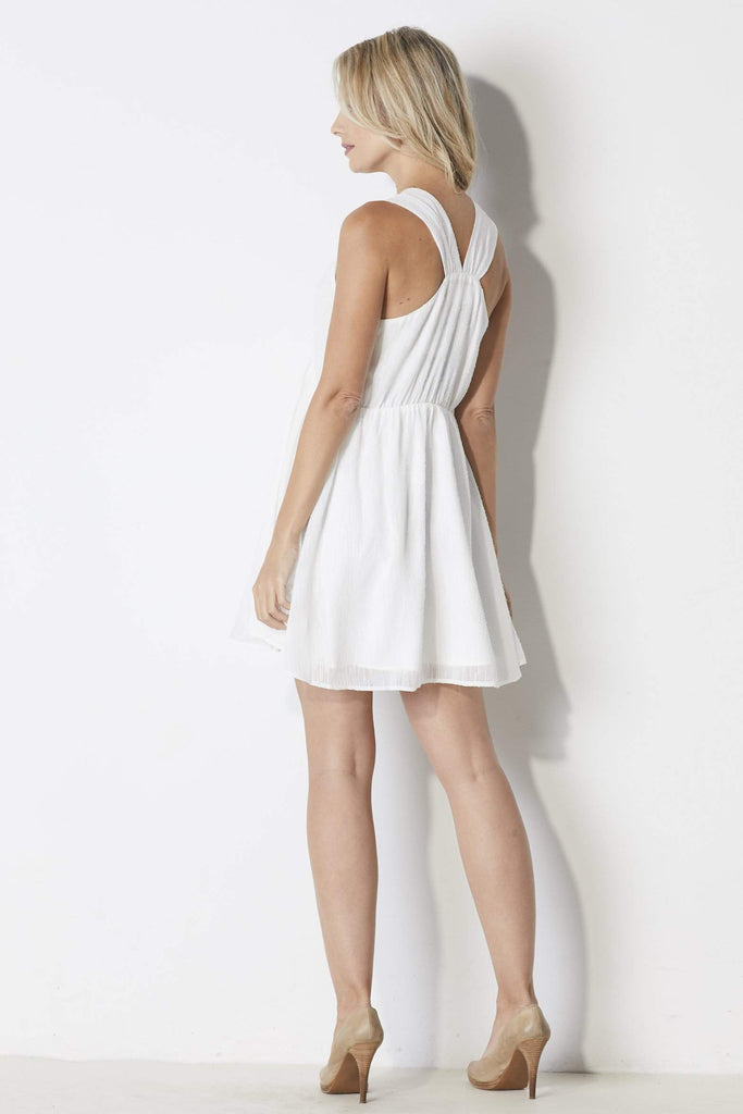 J.O.A White Babydoll Dress - Back