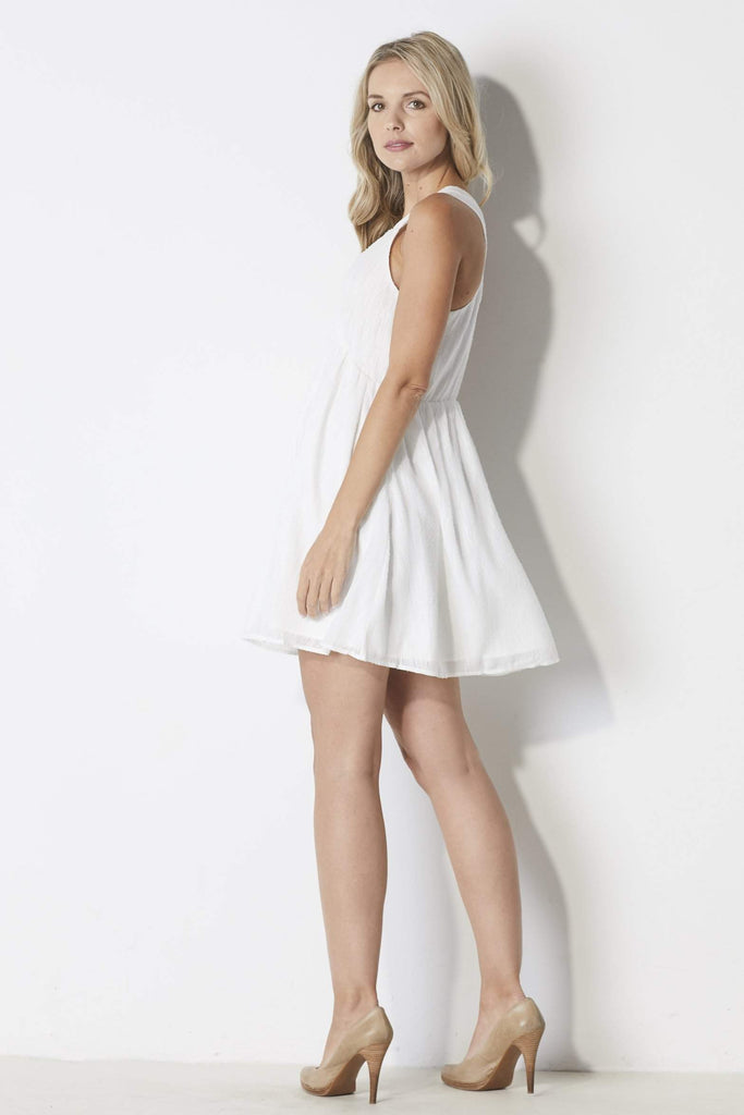 J.O.A White Babydoll Dress - Side