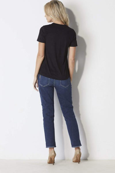 Z-Supply Suede Lace-up Tee - Back