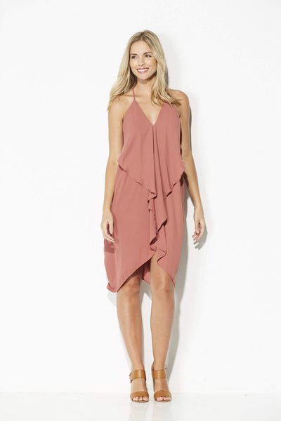 Clay Ruffle Dress