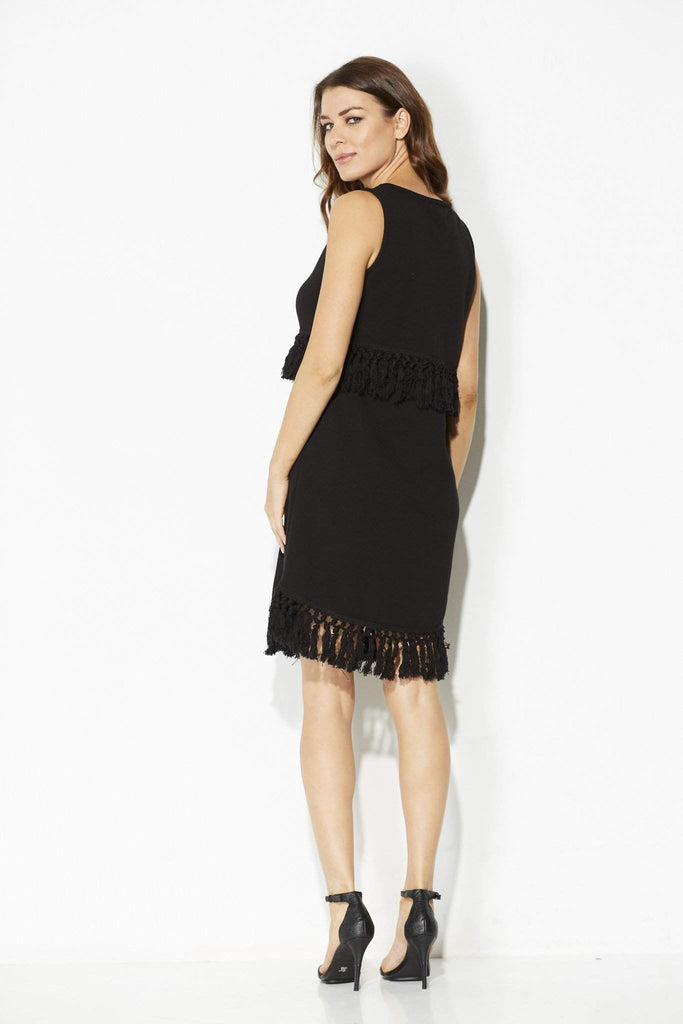 Jack - Black Knit Tassel Dress