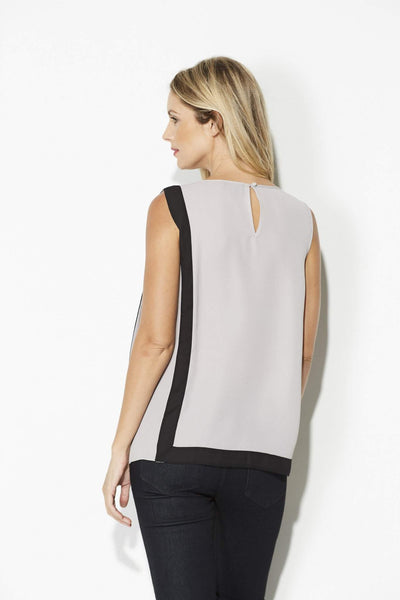 Highline - Sleeveless Gray & Black Top - rear