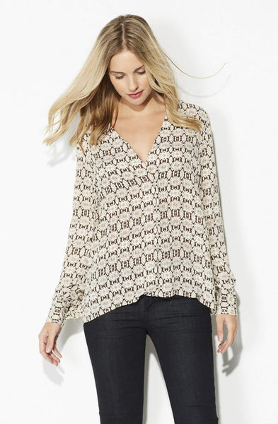 Olivaceous - Brown and Ivory Snake Skin Top - front