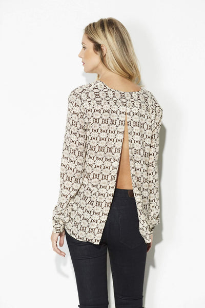 Olivaceous - Brown and Ivory Snake Skin Top - rear