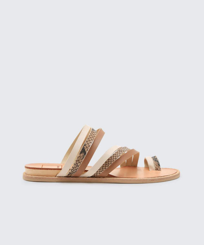 Nelly Sandal White Multi Leather