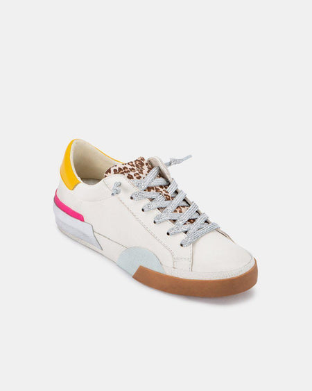 Zonya Sneakers - White Multi Plush
