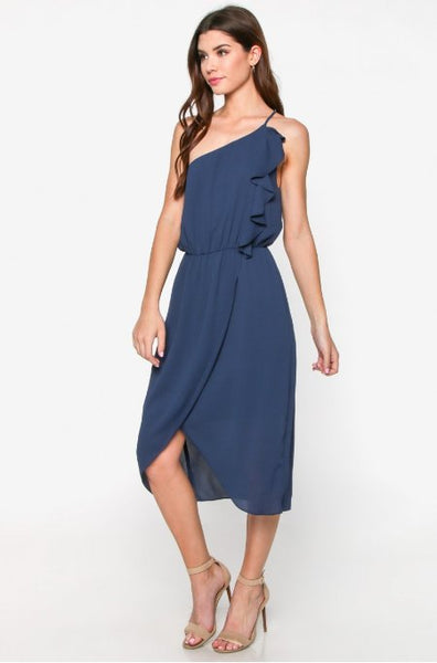 Navy Tulip Dress